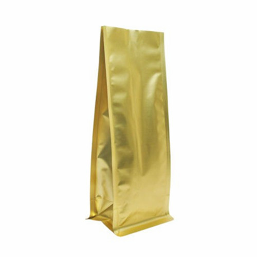 1KG GOLD FOIL COFFEE POUCH WITH QUAD BOTTOM