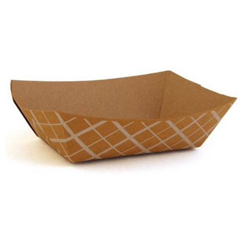 RESTAURANTS KRAFT PAPER FOOD TRAYS 10 X 6 CM BOTTOM