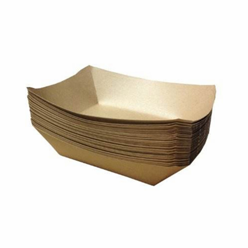 RESTAURANTS KRAFT PAPER FOOD TRAYS 15 X 9 CM BOTTOM