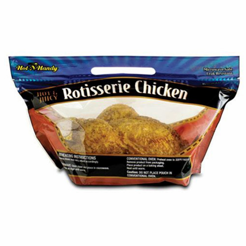 OVEN SAFE PLASTIC ROTISSERIE CHICKEN BAGS