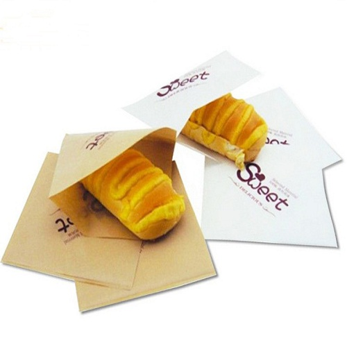 L SHAPE  PE COATED GREASE PROOF  PAPER BAGS