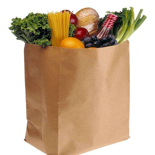 GROCERY CHECK OUT PAPER CARRIER BAGS 28*28*15CM