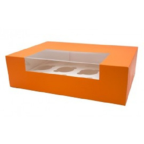 ONE PIECE PAPER BOX WITH  3 CAKES HOLDER 285*115*95MM