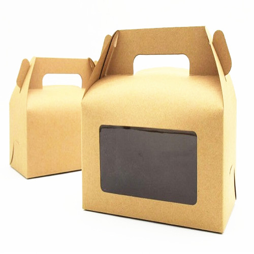 ASSEMBLE KRAFT CAKE BOX WITH WINDOW