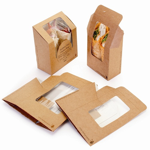 TORTILLA / CHICKEN ROLLS PE COATED  PAPER BOX