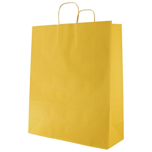 LARGE KRAFT PAPER SHOPING BAGS WITH TWISTED HANDLE