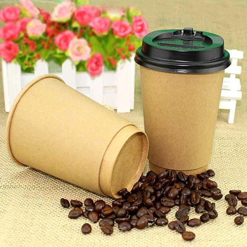 DOUBLE WALL KRAFT PAPER COFFEE CUPS 12OZ