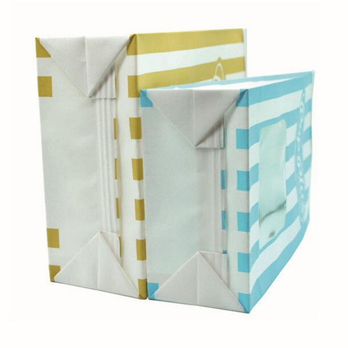 CUSTOM WHITE TIN TIE PAPER BAGS WITH WINDOW